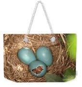 Hatching Robin Nestlings Weekender Tote Bag