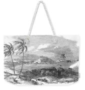 Havana, Cuba, 1851. /na View Of The Harbor And Fort Of Atares. Wood Engraving, English, 1851 Weekender Tote Bag