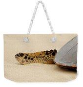 Hawaiian Green Turtle Rear Tail Fin Weekender Tote Bag