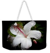 Hawaiian White Hibiscus Weekender Tote Bag