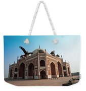 Hawk Flying Next To Humayun Tomb Delhi Weekender Tote Bag