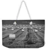 Hay Bales On A Farm In Alberta Weekender Tote Bag