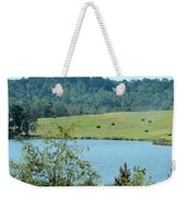 Hay Rolls On A Hill Weekender Tote Bag