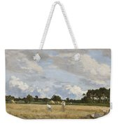 Haymaking Weekender Tote Bag by Eugene Louis Boudin