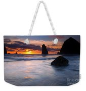 Haystack Sunset Weekender Tote Bag