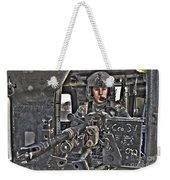 Hdr Image Of A Uh-60 Black Hawk Door Weekender Tote Bag