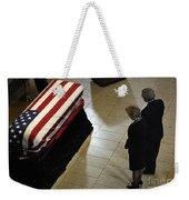 He Casket Of Former President Gerald R Weekender Tote Bag