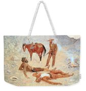 He Lay Where He Had Been Jerked Still As A Log  Weekender Tote Bag
