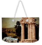 Head At Temple Of Castor And Pollux Weekender Tote Bag