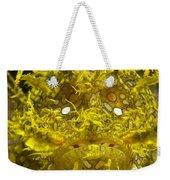 Head-on Portrait Of Yellow Weekender Tote Bag