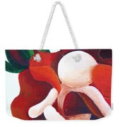 Healing Painting Baby Sitting In A Rose Detail Weekender Tote Bag
