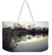 Hearns Pond Reflection Weekender Tote Bag