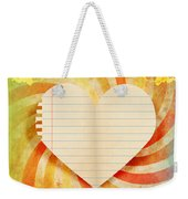 Heart Paper Retro Design Weekender Tote Bag