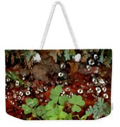 Heart Shaped Clover And  Dew Drops Weekender Tote Bag