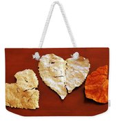 Heart Shaped Leaves Weekender Tote Bag