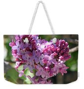 Heart Shaped Lilac Weekender Tote Bag