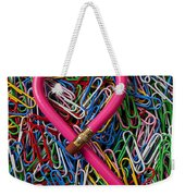 Heart Shaped Pink Pencil Weekender Tote Bag