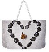 Heart With Rose Weekender Tote Bag by Joana Kruse