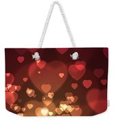 Hearts Background Weekender Tote Bag