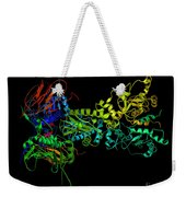 Heat Shock Protein 90 In A Larger Weekender Tote Bag by Ted Kinsman