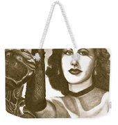 Heddy Lamar Weekender Tote Bag by Debbie DeWitt