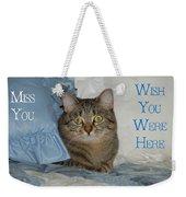 Heidi Cat Miss You Weekender Tote Bag