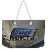 Heinz Spaghetti Train Ad Signage Digital Art Weekender Tote Bag