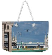 Helicopters Tower Bridge Weekender Tote Bag