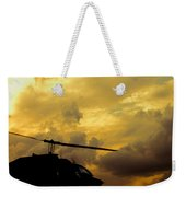 Helocopter In Clouds Weekender Tote Bag