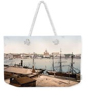 Helsinki Finland - Russian Cathedral And Harbor Weekender Tote Bag