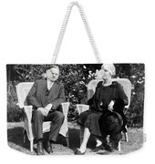 Herbert Hoover Seated With His Wife Weekender Tote Bag