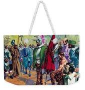 Hernando Cortes Arriving In Mexico In 1519 Weekender Tote Bag