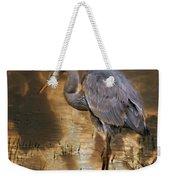 Heron Bronze Weekender Tote Bag