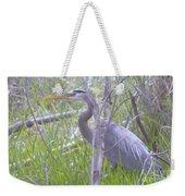 Heron In The Shade  Weekender Tote Bag