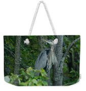 Heron On A Limb Weekender Tote Bag