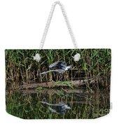 Heron Reflected In The Water Weekender Tote Bag