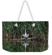 Heron Sunbath Weekender Tote Bag