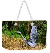Heron Taking To Flight Weekender Tote Bag
