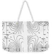 Hertzs Flux Lines Weekender Tote Bag by Science Source