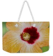 Hibiscus Gold And Red Weekender Tote Bag
