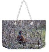 Hiding Pheasant Weekender Tote Bag