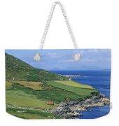High Angle View Of A Coastline, Beara Weekender Tote Bag