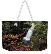 High Angle View Of A Waterfall, Glenoe Weekender Tote Bag