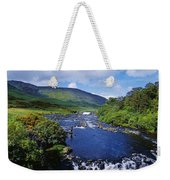 High Angle View Of A Waterfall Weekender Tote Bag