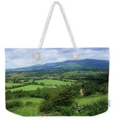High Angle View Of Fields On A Weekender Tote Bag