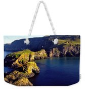 High Angle View Of Rock Formations In Weekender Tote Bag