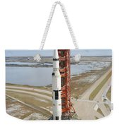 High Angle View  Of The Apollo 14 Space Weekender Tote Bag