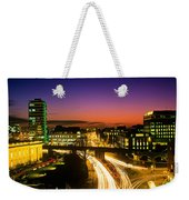 High Angle View Of Traffic Moving In A Weekender Tote Bag