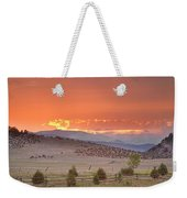 High Park Wildfire At Sunset Weekender Tote Bag