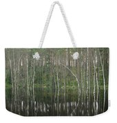 High Waters In A Forest Of Evergreens Weekender Tote Bag